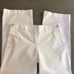 LOFT NWT White Cotton Sailer Pants 4P